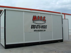 Mods not Pods Mobile on Demand Storage in Fort Worth for moving to another city pack it up and let us do the driving. Or just use it for storage